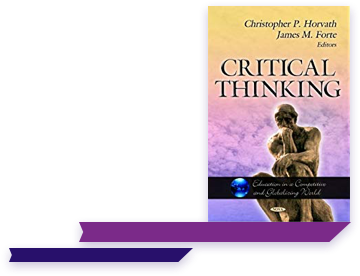 Animated Critical Thinking book graphic